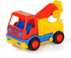 Polesie Toys takelwagen 20 cm rood/geel