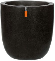 Zwarte Capi Europe Bloempot bol zwart 52 x 54 cm Capi Lux