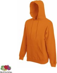 Oranje Fruit of the Loom Hoodie Orange Maat S dubbellaagse capuchon