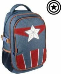 Marineblauwe Marvel Captain America The Avengers Rugzak Rugtas Travel Backpack
