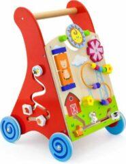 New Classic Toys Activiteiten Duw- Loopwagen - Rood