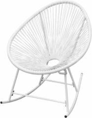 VidaXL Tuinschommelstoel poly rattan wit
