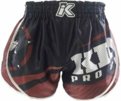 King Stormking 2 Muay Thai Kickboks Broekje Zwart Bruin S = maat 29/30   50-60kg