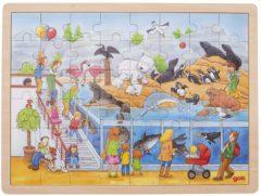 Goki houten legpuzzel dierentuin 48-delig