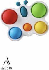 Rode AlphaServiceTech Simple Dimple Vlinder Pop It Fidget toy - Goedkoop - Bekend van Tiktok