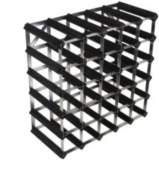 Zwarte RTA - Traditional wine rack 30 bottles black ash