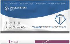 Thuistestenkopen.nl Telano Ovulatietest Dipstick Gevoelig 30 testen - Gratis Zwangerschapstest strip - Ovulatiekalender