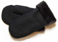 Bernardino Zwarte Lammy wanten suede voor volwassenen - Handschoenen schapenwol 8 (L - 20,5 cm)