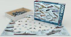 World war ii warships - puzzel - eurographics - 1000 - 48 x 68