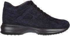 Blue Hogan Scarpe sneakers donna camoscio interactive allacciata