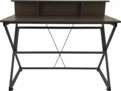 VDD Industrial Vintage Design Bureau tafel computer laptop Stoer - industrieel vintage stijl - 110 cm breed - bruin