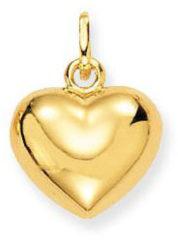 Gele Glow 230.0003.00 Gouden Hanger/Bedel Hart 11 mm x 13 mm