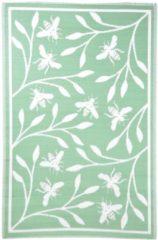 Groene Esschert design Tuintapijt met bijendesign 1,2 m x 1,8 m - tapijt