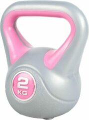 Roze Gorilla Sports Kettlebell 2 kg Kunststof Trendy (extra stabiel)
