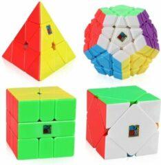 MoYu Speed Cube – Pyraminx, Skewb, Square-1, Megaminx – 4 In 1 Bundel - Stickerless