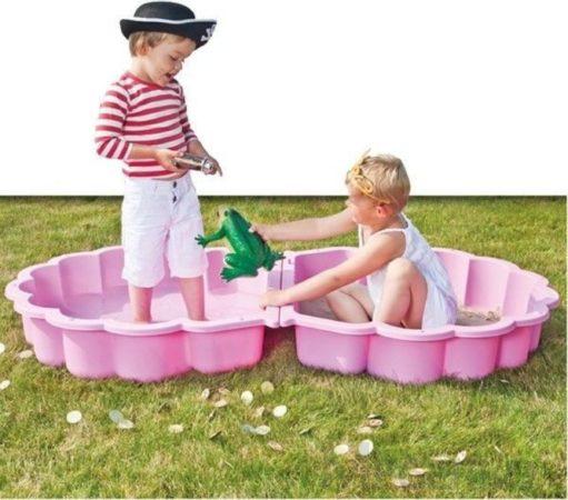 Afbeelding van Paradiso Toys Zandbak Schelpen 87 X 78 Cm Roze 2-delig