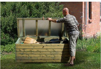 Afbeelding van Weka tuinkussen opbergbox 360 Wood 190x80cm
