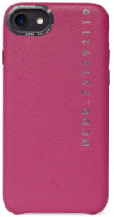 Fuchsia DECODED POP Back Cover iPhone SE (2020) / 8, Hoogwaardig Full-Grain Leer, Metalen knoppen + Minimaal Design, Schokbestendig, Hoes voor iPhone SE (2020) / 8 [ Roze ]