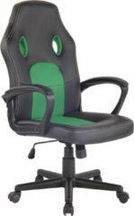 Clp Elbing Bureaustoel - Kunstleer - Zwart/groen