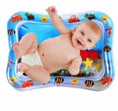 Blauwe Merkloos / Sans marque Baby Opblaasbare Waterspeelmat - Hoge Kwaliteit - Baby Trainer - Water Speelmat - Baby shower - Kraamcadeau - Water speel mat - Tummy time - Speelkleed Aquamat - Speelgoed - watermat
