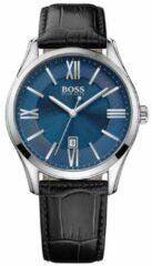 Boss Watches Hugo Boss HB1513386 Horloge - Leer - Zwart - 43 mm
