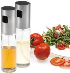 Zilveren Westmark Olio En Aceto Olie En Azijnspay Set - Glas En RVS