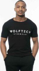 Wolftech Gymwear Sportshirt Heren - Zwart - S - Slim Fit - Sportkleding Heren