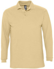 Beige Polo Shirt Lange Mouw Sols WINTER 2 CASUAL MEN