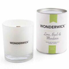 Wonderwick Basil Mandarin kaars wit
