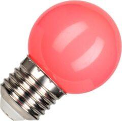 Bailey Kogellamp Roze | LED Filament 1W | Grote fitting E27 Kunststof