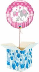 Roze Boemby Helium Ballon gevuld met helium - Geboorte - Cadeauverpakking - It's a Girl! - Folieballon - Helium ballonnen geboorte - Gender Reveal