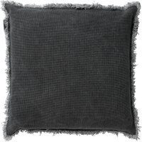Antraciet-grijze Dutch Decor Sierkussen Burto 60x60 cm Charcoal Grey