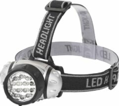 LED Hoofdlamp - Aigi Heady - Waterdicht - 35 Meter - Kantelbaar - 14 LED's - 1W - Zilver | Vervangt 8W - BSE
