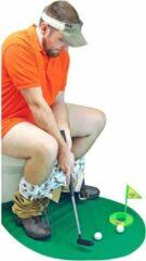 Groene Zinaps deluxe Toilet Golf Set - Deluxe WC-golfset - 6-delig - WC golf - Golfclubs - Grappige cadeaus volwassenen