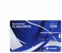 Blauwe Platinet PMFNC32BL USB flash drive