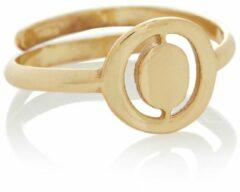 Gouden LOTT. gioielli Verstelbare ring Initial O van zilver met goudkleurige plating