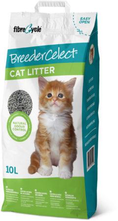 Afbeelding van Breedercelect Kattenbakvulling 100 Procent Recycled - Kattenbakvulling - 10 l