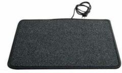 Antraciet-grijze Heatek ComfortFamily - Verwarmde voetenmat - 110x60cm - Antraciet