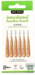 The Humble Co Interdental Bamboe tanden rager borsteltje 6 st - Groen - 0.80 mm