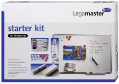 Legamaster Whiteboardmarker boardmarker Starter Kit Zwart, Blauw, Rood, Groen Incl. bordwisser, bordreiniger, magneten 7-125000 4 stuks/pack