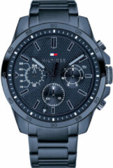 Tommy Hilfiger TH1791560 Horloge - Staal - Blauw - Ø 46 mm