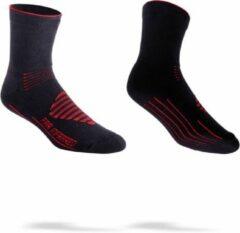 BBB Cycling BSO-16 - Fietssokken FIRFeet - Thermo - Winter - Maat 39/43 - zwart/rood