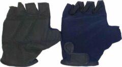 Hzb Fietshandschoenen Solid Comfort Lycra Donkerblauw Maat L