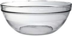 Transparante Duralex 1x Serveerschalen/saladeschalen rond van glas 12.3 x 31 cm 3.45 liter - Schalen en kommen - Keuken accessoires