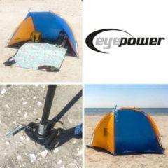 Amanka Strandmuschel UV-Schutz 120x210x120cm Kinder Strandzelt Baby Sonnen Wind Schutz