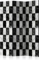 Witte Kamerscherm - Scheidingswand - Vouwscherm - Checker [Room Dividers] 135x172 - Artgeist Vouwscherm