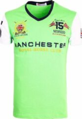 Geographical Norway Shirt V-hals Groen Manchester Jingston