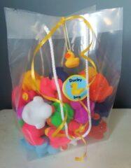 Badeendwinkel Duckybag 50 mini eendjes 5cm- set gekleurde badeendjes