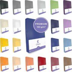 Cillows Premium Jersey Hoeslaken voor Matras - 90x200 - 100x220 cm - (tot 25 cm hoogte) – Royal Blauw