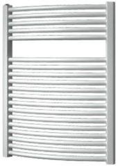 Douche Concurrent Designradiator Plieger Onda Gebogen 76,4x58.5cm 528 Watt Wit Zijaansluiting